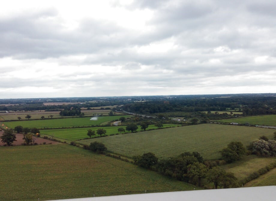 Lovely views of the Norfolk countryside from the top